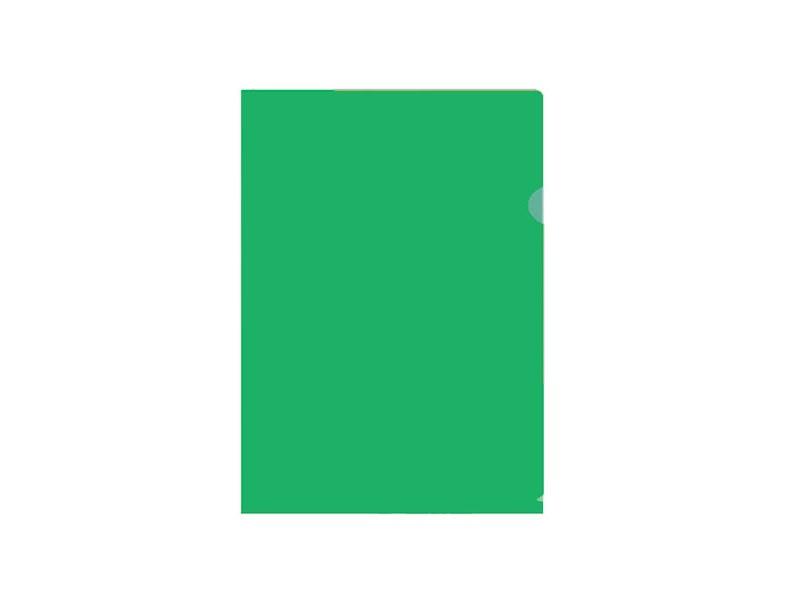 Папка-уголок inФОРМАТ A4 пластик 150 мк, зеленый