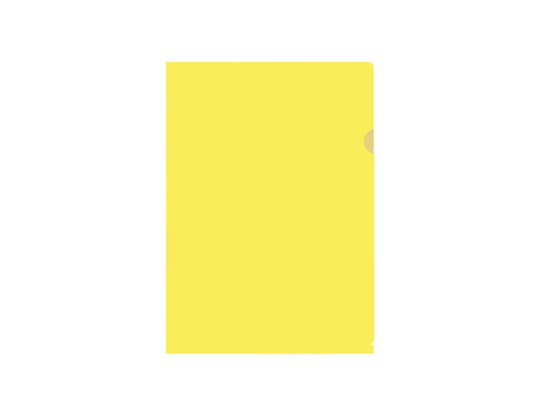 Папка-уголок inФОРМАТ A4 пластик 150 мк, желтая