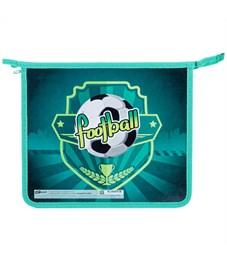 """Папка для тетрадей 1 отделение, А5, ArtSpace """"Football"""", картон/пластик, на молнии"""