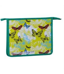 "Папка для тетрадей 1 отделение, А5, ArtSpace ""Летние бабочки"", картон/пластик, на молнии"