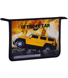 "Папка для тетрадей 1 отделение, А5, ArtSpace ""Offroad car"", картон/пластик, на молнии"