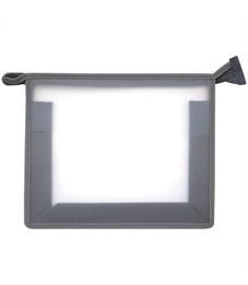 Папка для тетрадей 1 отделение, А5, ArtSpace прозрачная/серая, пластик, на молнии