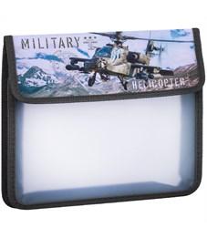 """Папка для тетрадей 1 отделение, А5, ArtSpace """"Вертолёт"""", картон/пластик, на липучке"""