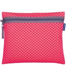 """Папка для тетрадей 1 отделение, А5, Berlingo """"Color Zone"""", розовый, ткань, на молнии"""