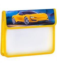 """Папка для тетрадей 2 отделения, А5, ArtSpace """"Dream car"""", картон/пластик, на липучке"""