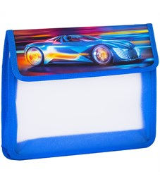 """Папка для тетрадей 2 отделения, А5, ArtSpace """"Race car"""", картон/пластик, на липучке"""