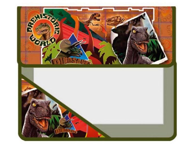 """Папка для тетрадей, Оникс """"Динозавры"""", А5, 2 отд, клапан на липучках, ламинат/пластик"""