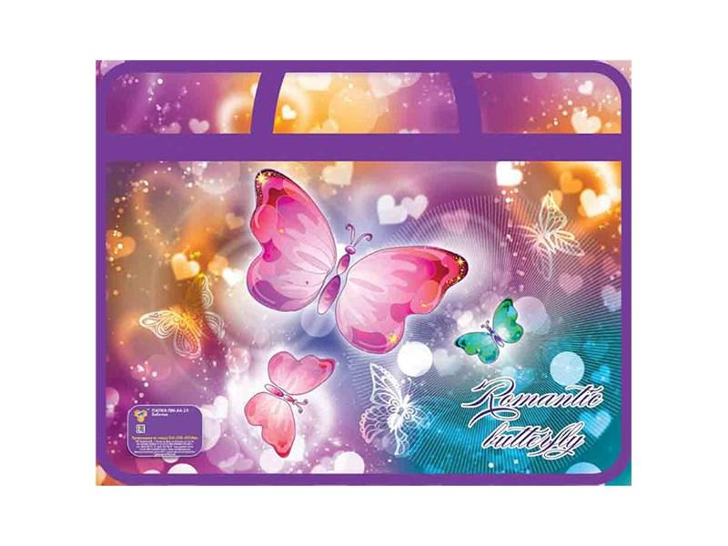 Папка для тетрадей Пчелка Бабочки на молнии с ручками