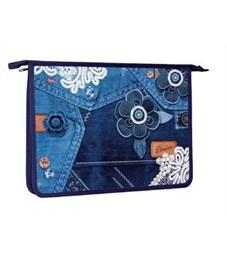 Папка для тетрадей пластиковая Hatber Jeans Style А4