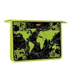 Папка для тетрадей пластиковая Hatber Карта мира А4