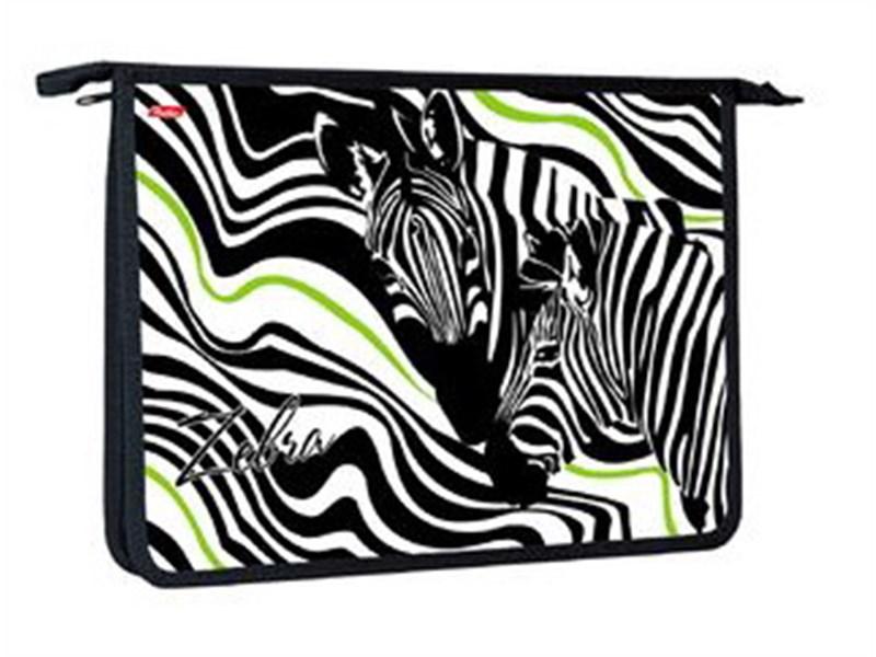 Папка для тетрадей пластиковая Hatber Zebra А4