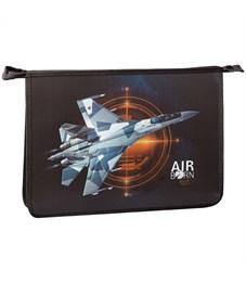 "Папка для труда 2 отд., А4, ArtSpace ""Fighter"", пластик-картон, конгрев, металл., на молнии"