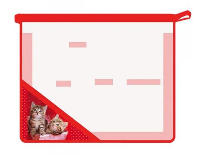 Папка для труда Котята в корзинке А5 2 отделения ПТ-Р2 6484