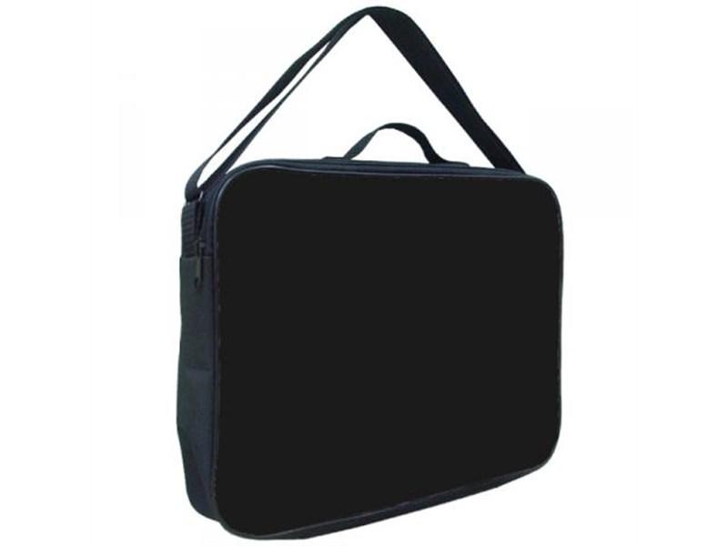 Папка менеджера А4 Оникс черная, ремень через плечо