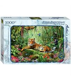 "Пазл 1000 эл. Step Puzzle ""Тигр в джунглях"", с клеем"