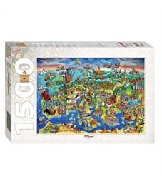 """Пазл 1500 эл. Step Puzzle """"Art collection. Достопримечательности"""""""