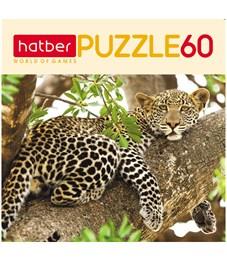 "Пазл   60 эл. mini Hatber ""Леопард"""