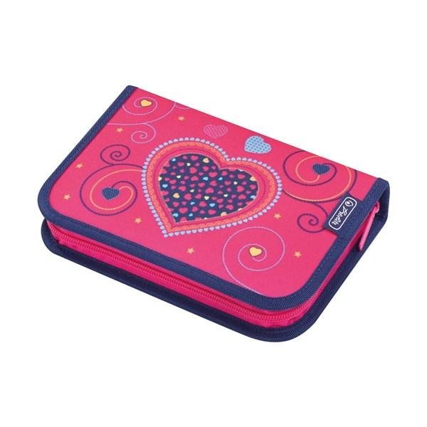 Пенал школьный Herlitz Pink Hearts