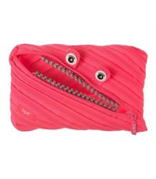 Пенал-сумочка школьный Zipit Grillz Jumbo Pouch розовый