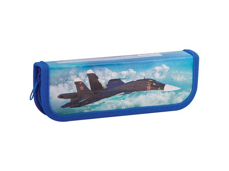 """Пенал 1 отделение, 190*65 ArtSpace """"Военные самолеты"""", ламинированный картон"""