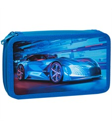 """Пенал 2 отделения, 190*110 ArtSpace """"Neon car"""", ткань"""