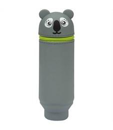 "Пенал мягкий 200*55*50 Berlingo ""Koala"", силикон, серый"