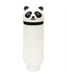"""Пенал мягкий 200*55*50 Berlingo """"Panda"""", силикон, белый"""