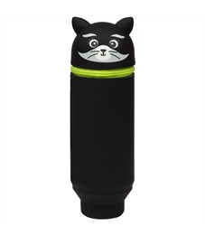 """Пенал мягкий 200*55*50 Berlingo """"Raccoon"""", силикон, черный"""