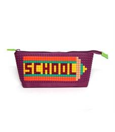 Пенал школьный 4ALL Kids фиолетовый с набором битов