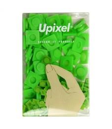 Пиксельные фишки большие WY-P001 однотонные Мятный зеленый, 80 шт.