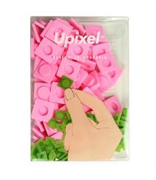Пиксельные фишки большие WY-P001 однотонные Розовый, 80 шт.