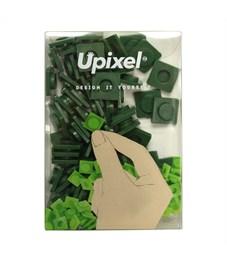 Пиксельные фишки большие WY-P001 однотонные Темно-зеленый, 80 шт.