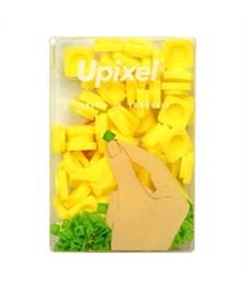 Пиксельные фишки маленькие WY-P002 однотонные Банановый желтый, 80 шт.