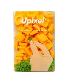 Пиксельные фишки маленькие WY-P002 однотонные Желтый, 80 шт.