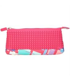 Пиксельный пенал в ярких красках WY-B002-a Розовый