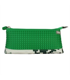 Пиксельный пенал в ярких красках WY-B002-a Зеленый хаки