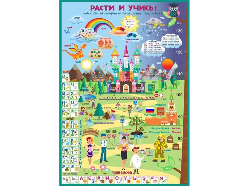 Плакат Расти и учись!: для детей старшего дошкольного возраста