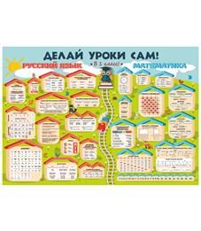 Плакат Русский и Математика: В 1 класс