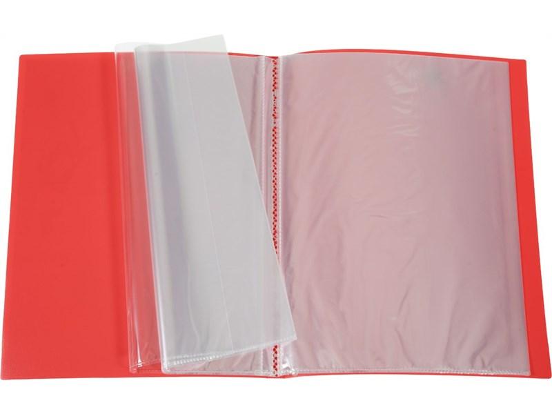 Пластиковая папка портфолио Hatber, 20 вкладышей, А4
