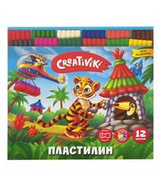 Пластилин CREATIVIKI 12 цветов 180 г.