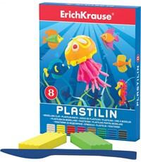 Пластилин Erich Krause 8 цветов в коробке со стеком