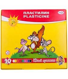 """Пластилин Гамма """"Юный художник"""", 10 цветов, со стеком, картон"""