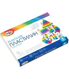 "Пластилин Гамма ""Классический"", 08 цветов, 160г, со стеком, картон"