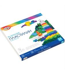 "Пластилин Гамма ""Классический"", 24 цвета, 480г, со стеком, картон"