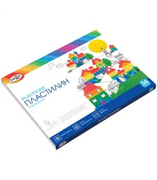 "Пластилин Гамма ""Классический"", 36 цветов, 720г, со стеком, картон"