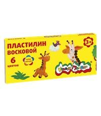 Пластилин восковой Каляка-Маляка, 6 цветов, 90 гр.
