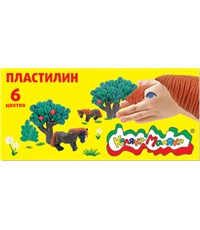 Пластилин Каляка-Маляка, 6 цветов, 90 г, для  детского творчества