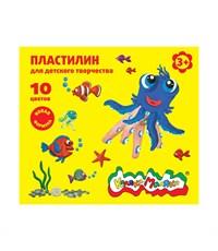 Пластилин Каляка-Маляка для дет. творчества 10 цв.