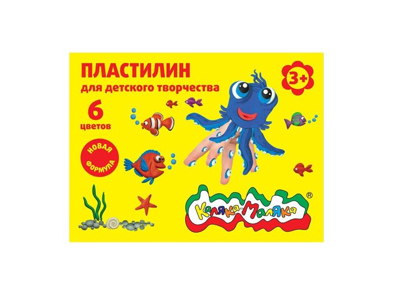 Пластилин Каляка-Маляка 6 цв.