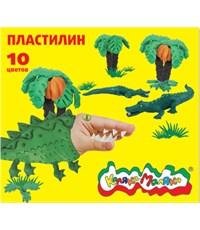 Пластилин Каляка-Маляка для детского творчества 10 цветов